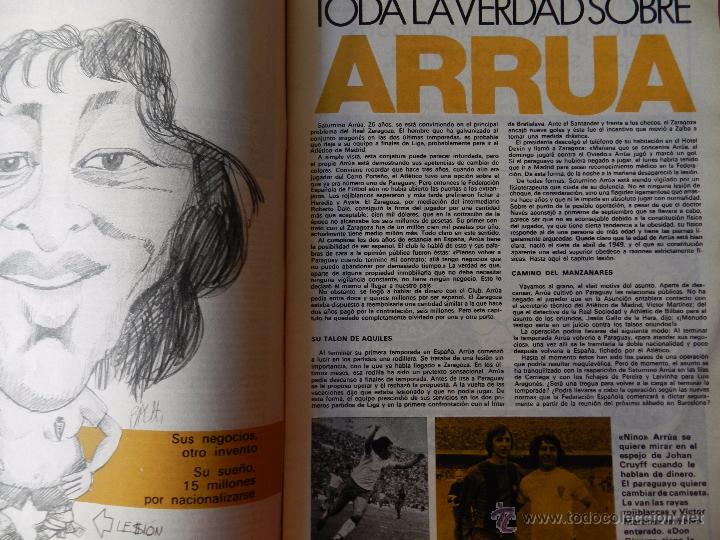 Coleccionismo deportivo: DON BALON Nº 1 1975 POSTER SOTIL FC BARCELONA 75/76 PRIMERA REVISTA NUMERO UNO COLECCIONISTA - Foto 4 - 105264571