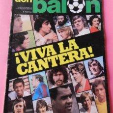 Colecionismo desportivo: REVISTA DON BALON Nº 46 1976 SOTIL REXACH BARÇA-BRINDISI LAS PALMAS-CASZELY ESPAÑOL-JENSEN-ELCHE CF. Lote 53696015
