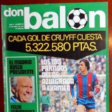 Coleccionismo deportivo: DON BALON Nº30 ABRIL 1976. CRUYFF FC BARCELONA. FUTBOL VINTAGE.. Lote 53754452