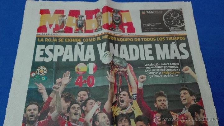 Coleccionismo deportivo: MARCA - EUROCOPA, 2 DE JULIO 2012. ESPAÑA Y NADIE MÁS . - Foto 5 - 53817421