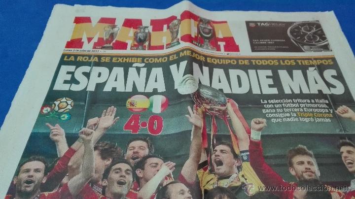 Coleccionismo deportivo: MARCA - EUROCOPA, 2 DE JULIO 2012. ESPAÑA Y NADIE MÁS . - Foto 6 - 53817421