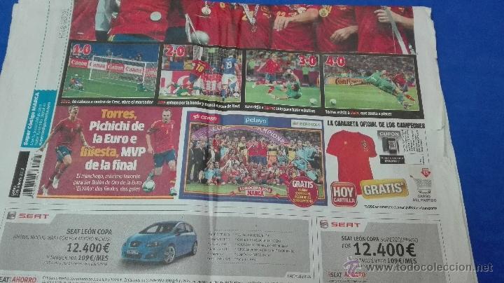Coleccionismo deportivo: MARCA - EUROCOPA, 2 DE JULIO 2012. ESPAÑA Y NADIE MÁS . - Foto 8 - 53817421