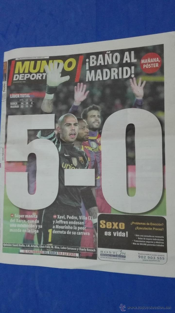 MUNDO DEPORTIVO - 30 NOVIEMBRE 2010. (Coleccionismo Deportivo - Revistas y Periódicos - Mundo Deportivo)