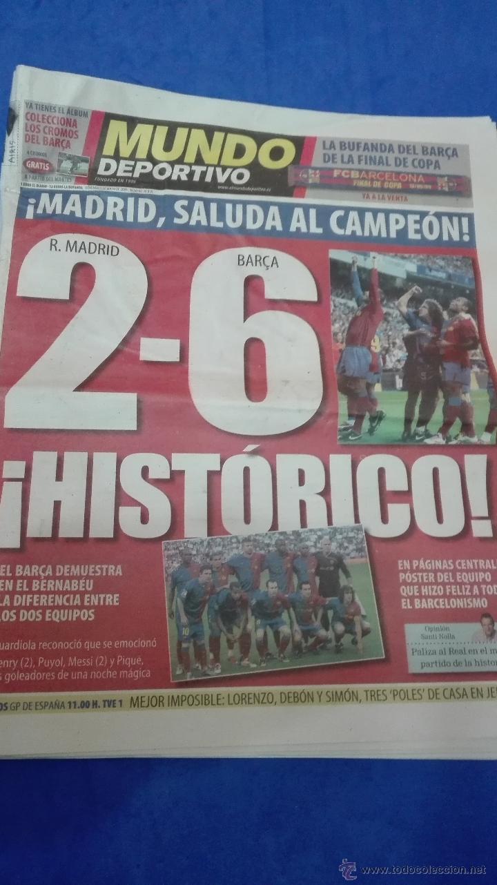 MUNDO DEPORTIVO - 03 MAYO 2009. HISTORICO. (Coleccionismo Deportivo - Revistas y Periódicos - Mundo Deportivo)