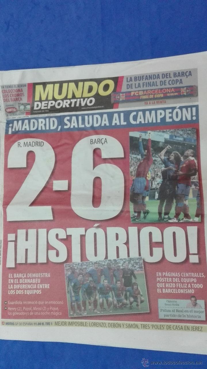 Coleccionismo deportivo: MUNDO DEPORTIVO - 03 MAYO 2009. HISTORICO. - Foto 2 - 53817454