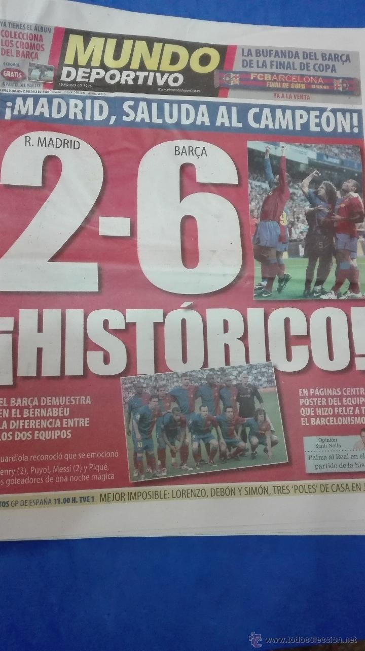 Coleccionismo deportivo: MUNDO DEPORTIVO - 03 MAYO 2009. HISTORICO. - Foto 4 - 53817454
