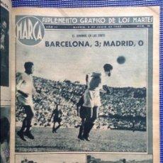Coleccionismo deportivo: 2 TOMOS ENORMES ENCUADERNADOS MARCA SUPLEMENTO GRAFICO DE LOS MARTES AÑOS 40. Lote 53839694