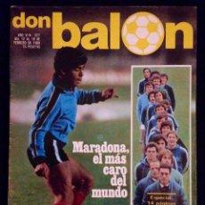 Coleccionismo deportivo: DON BALON 227 REAL SOCIEDAD ESPECIAL 14 PAGINAS - 1980 - MARADONA. Lote 42796425