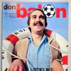 Coleccionismo deportivo: DON BALÓN , REVISTA FÚTBOL , AÑO 1977 , Nº 87 , PORTADA STIELIKE. Lote 53880343