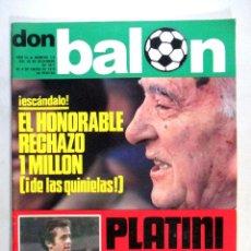 Coleccionismo deportivo: DON BALÓN , REVISTA FÚTBOL , AÑO 1977 , Nº 116 , PORTADA PLATINI. Lote 53880917