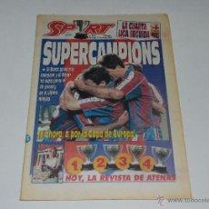 Coleccionismo deportivo: (M) DIARIO SPORT , FC BARCELONA SUPERCAMPIONS N. 5213 , 15 MAYO 19994 , BUEN ESTADO. Lote 53937812