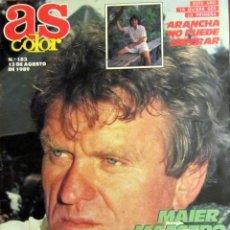Coleccionismo deportivo: AS COLOR 183 AGOSTO 1989 SEPP MAIER ARANCHA SANCHEZ VICARIO CAMACHO NBA WATERPOLO MANUEL PEREIRA. Lote 53941572