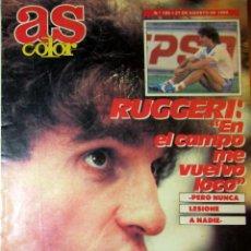 Coleccionismo deportivo: AS COLOR 185 AGOSTO 1989 RUGGERI REAL MADRID JOSE LUIS NUÑEZ NBA. Lote 53941654