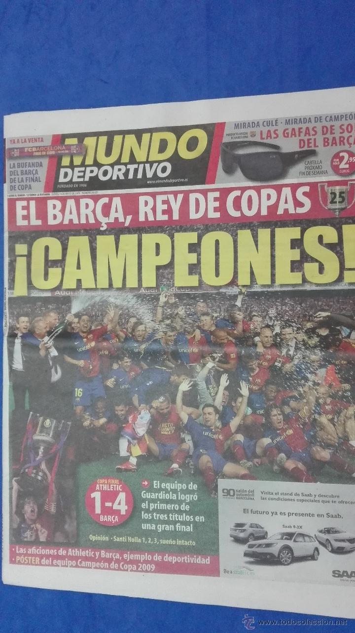 MUNDO DEPORTIVO - ( CAMPEON DE COPA DEL REY). 14 MAYO DE 2009. (Coleccionismo Deportivo - Revistas y Periódicos - Mundo Deportivo)