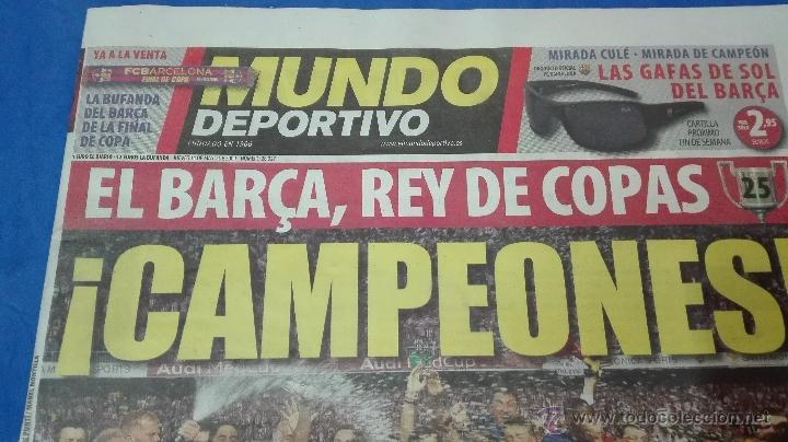 Coleccionismo deportivo: MUNDO DEPORTIVO - ( CAMPEON DE COPA DEL REY). 14 MAYO DE 2009. - Foto 2 - 53964695