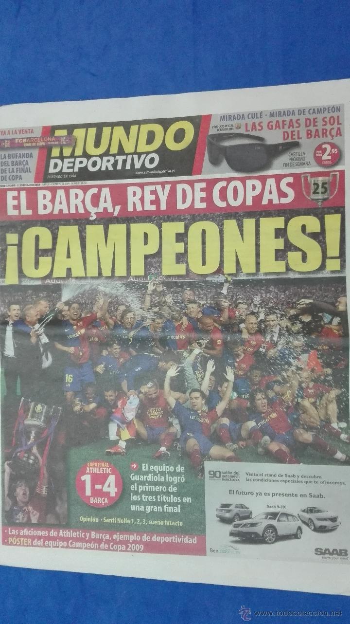 Coleccionismo deportivo: MUNDO DEPORTIVO - ( CAMPEON DE COPA DEL REY). 14 MAYO DE 2009. - Foto 3 - 53964695