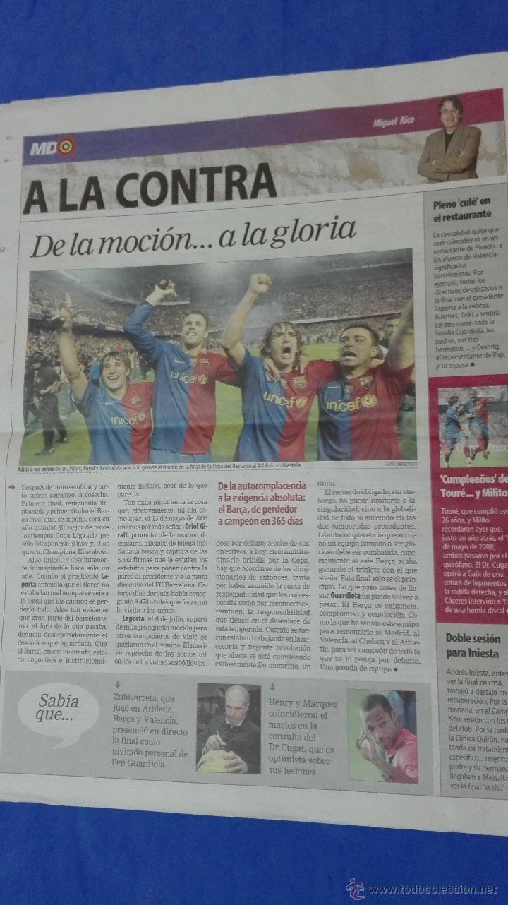 Coleccionismo deportivo: MUNDO DEPORTIVO - ( CAMPEON DE COPA DEL REY). 14 MAYO DE 2009. - Foto 5 - 53964695