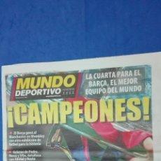 Coleccionismo deportivo: MUNDO DEPORTIVO - ( CAMPEON DE EUROPA). 29 MAYO DE 2011.. Lote 53964794