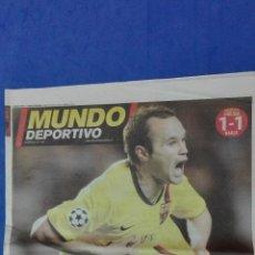 Coleccionismo deportivo: MUNDO DEPORTIVO - (A ROMA). 7 MAYO DE 2009. INIESTAZO.. Lote 53964910