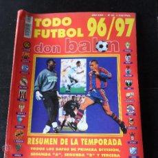 Collezionismo sportivo: EXTRA DON BALON 96- 97, 1996 - 1997 EXTRA NUMERO 36 TODO FUTBOL RESUMEN DE LA TEMPORADA . Lote 54094218