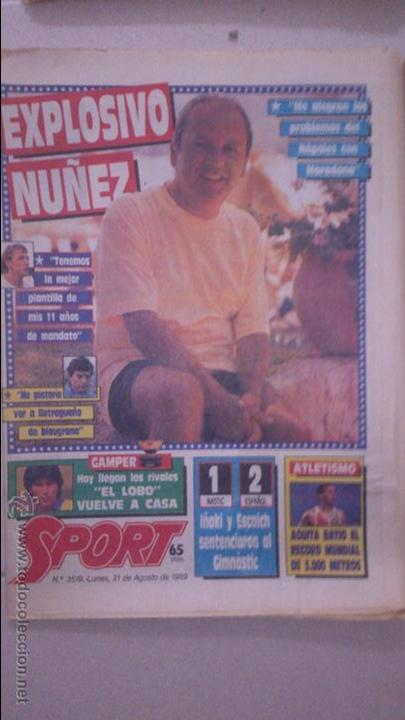 DIARIO SPORT AÑO 1989. Nº 3519 (Coleccionismo Deportivo - Revistas y Periódicos - Sport)