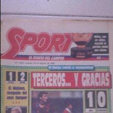 Coleccionismo deportivo: DIARIO SPORT 1989. Nº 3522. Lote 54161118