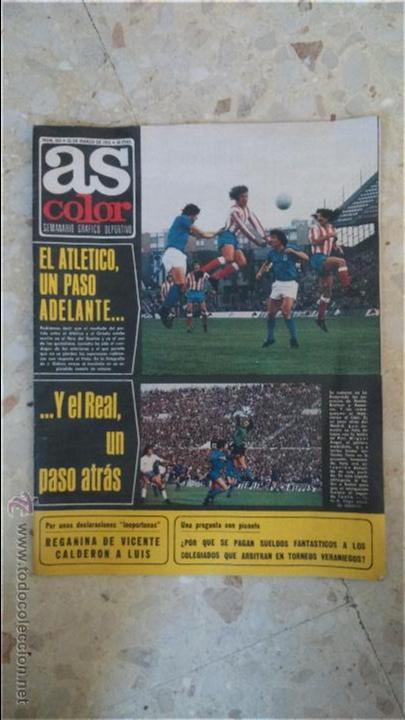 AS COLOR.1975.N 233.POSTER DEPORTIVO ALAVES.1975-76.POSTER QUINI.SPORTING DE GIJON. (Coleccionismo Deportivo - Revistas y Periódicos - As)