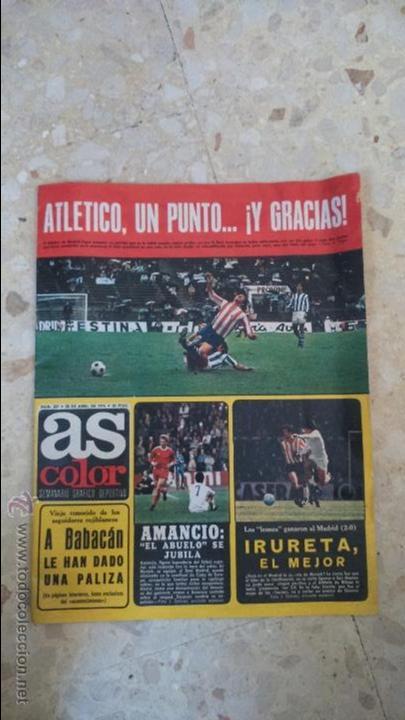 AS COLOR.1976.N 257.POSTER R.VALLADOLID.1975-76. (Coleccionismo Deportivo - Revistas y Periódicos - As)