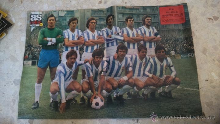 Coleccionismo deportivo: AS COLOR.1976.N 257.POSTER R.VALLADOLID.1975-76. - Foto 2 - 54171832