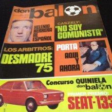 Coleccionismo deportivo: REVISTA DON BALON Nº 8 NO DEL FUTBOL CLUB F.C BARCELONA FC BARÇA CF 1975 ARBITROS DESMADRE 75. Lote 54186991