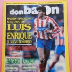 Collectionnisme sportif: REVISTA DON BALON Nº 809 POSTER SEVILLA FC 90/91-LUIS ENRIQUE-MANOLO-MARADONA-BAGGIO-1990/1991. Lote 54193470