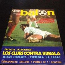 Coleccionismo deportivo: REVISTA DON BALON Nº 5 NO DEL FUTBOL CLUB F.C BARCELONA FC BARÇA CF 1975 LOS CLUBS EN CONTRA KUBALA . Lote 54202734