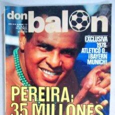 Coleccionismo deportivo: DON BALÓN , REVISTA FÚTBOL , AÑO 1977 , Nº 114 , PORTADA PEREIRA. Lote 54205510