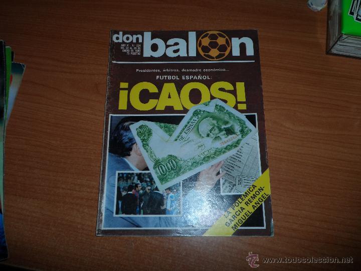 DON BALON N 224 1980 REPORTAJE COLOR MIGUEL ANGEL REAL MADRID KEMPES SOLSONA VALENCIA OLIVEIRA BETIS (Coleccionismo Deportivo - Revistas y Periódicos - Don Balón)