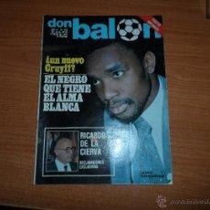 Coleccionismo deportivo: DON BALON N 228 1980 POSTER ARCONADA REAL SOCIEDAD COLOR VALENCIA CF SELECCION ESPAÑOLA CUNNINGHAM. Lote 54209392