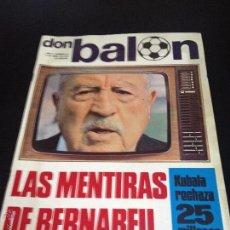 Coleccionismo deportivo: REVISTA DON BALON Nº 28 NO DEL FUTBOL CLUB F.C BARCELONA FC BARÇA CF 1976 LAS MENTIRAS DE BERNABEU. Lote 54230486