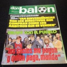 Coleccionismo deportivo: REVISTA DON BALON Nº 20 NO DEL FUTBOL CLUB F.C BARCELONA FC BARÇA CF 1976 CRUYFF CON EL PUEBLO. Lote 54230743
