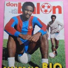 Colecionismo desportivo: REVISTA DON BALON Nº 130 1978 POSTER FC BARCELONA 77/78 BIO-MIGUELI-LAS PALMAS-JUANITO-LOPEZ UFARTE. Lote 54243939