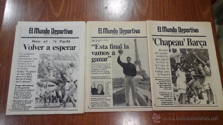 FINAL FOUR BASKET AÑO 1991.BARCELONA (Coleccionismo Deportivo - Revistas y Periódicos - Mundo Deportivo)