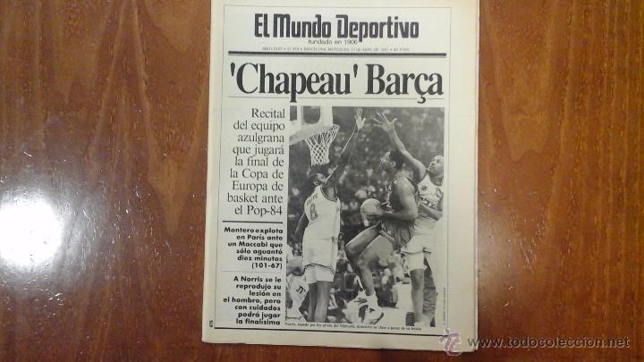 Coleccionismo deportivo: FINAL FOUR BASKET AÑO 1991.BARCELONA - Foto 2 - 54256442