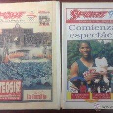 Colecionismo desportivo: PERIODICO SPORT N° 4562 AÑO 1992.APOTEOSIS INAGURACION JUEGOS OLIMPICOS BARCELONA. Lote 54305425