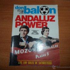 Coleccionismo deportivo: DON BALON Nº 277 1981 SATRUSTEGUI REAL SOCIEDAD GORDILLO BETIS MONTERO SEVILLA ZICO BRASIL. Lote 54339791