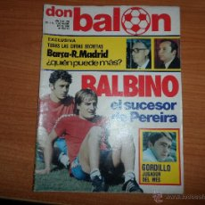 Coleccionismo deportivo: DON BALON Nº 265 POSTER CENTRAL ATLETICO MADRID 80-81 COLOR OSASUNA ATHLETIC BILBAO RUSKY VALLADOLID. Lote 54375591