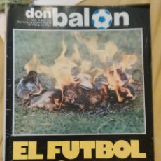 Coleccionismo deportivo: OCASION COLECCIONISTAS ANTIGUA REVISTA DON BALON Nº 414 1983 ESPECIAL EL FUTBOL ESPAÑOL SE QUEMA. Lote 54411950
