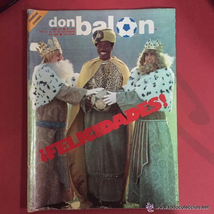 OCASION COLECCIONISTAS UNICA EN TC DON BALON Nº 376 1982 FELICIDADES GANGA (Coleccionismo Deportivo - Revistas y Periódicos - Don Balón)