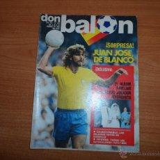 Coleccionismo deportivo: DON BALON Nº 330 1982 PORTADA JUAN JOSE CADIZ -- COLOR ARMSTRONG IRLANDA GORDILLO BETIS. Lote 54426283