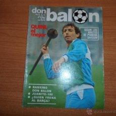 Colecionismo desportivo: DON BALON Nº 322 1981 REPORTAJE COLOR BARCELONA 8 PAGINAS, SCHUSTER , QUINI , VICTOR , SIMONSEN . Lote 54426912