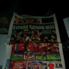 Coleccionismo deportivo: PERIODICO MARCA DEL 2 JULIO 2012, SELECCIÒN DE ESPAÑA DE FUTBOL CONSIGUE LA EUROCOPA. Lote 54434193