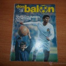 Coleccionismo deportivo: DON BALON Nº 319 1981 TENDILLO ARNESEN VALENCIA ALESANCO SIMONSEN RAMOS BARCELONA. Lote 54444103