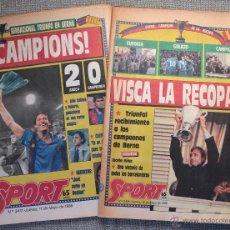 Coleccionismo deportivo: BARÇA CAMPEÓN RECOPA DE EUROPA 1989. SPORT, 11 Y 12 MAYO 1989. LA FINAL DE BERNA.. Lote 54504854